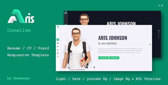 Aris Resume / CV / Portfolio / vCard Template