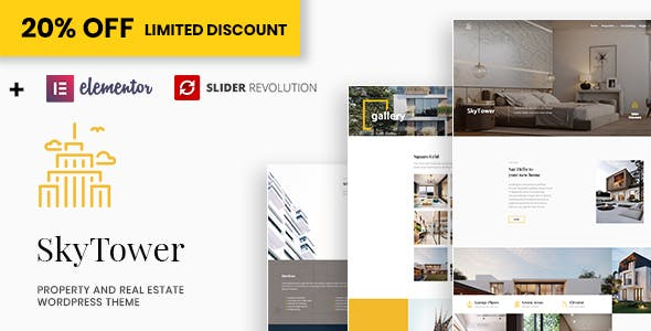 Download SkyTower - Real Estate and Construction WordPress Theme