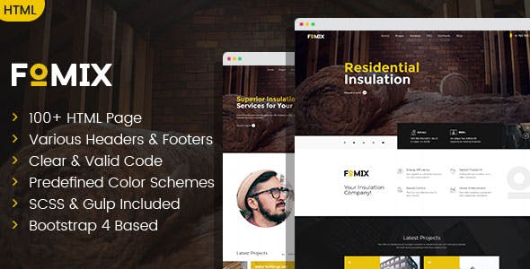 Fomix - House Insulation & Energy Efficiency HTML template