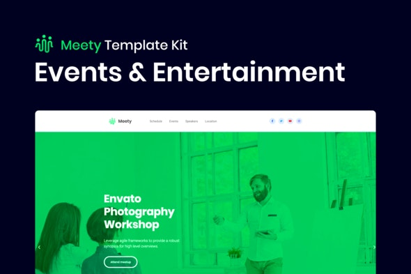 Meety – Conference & Meetup Template for WordPress - Events & Entertainment Elementor