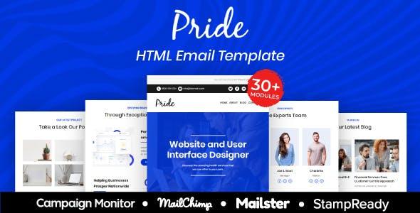 Pride - Multipurpose Responsive Email Template 30+ Modules Mailchimp