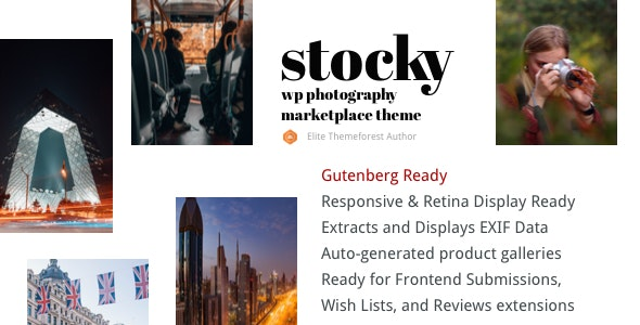 Stocky - A Stock Photography Marketplace Theme - eCommerce WordPress