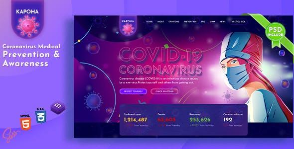 Download Kapoha - Corona virus Medical Prevention Template