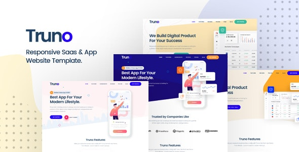 Truno - Multipurpose HTML5 Template for Saas and Startup Agency - Software Technology