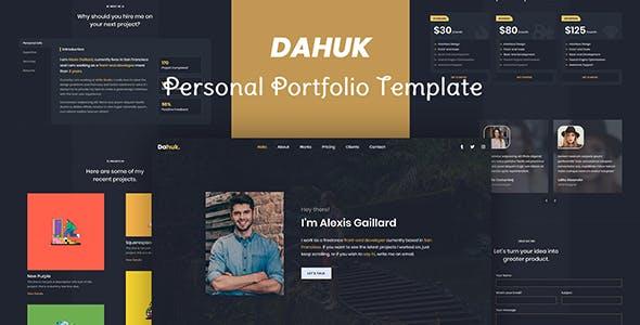 Dahuk - Personal / Resume / Portfolio Template