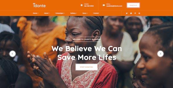 iDonte - Charity NonProfit PSD Template
