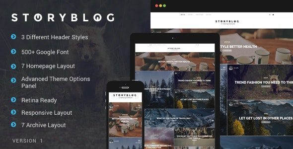 StoryBlog - WordPress Theme for Story Tellers - Blog / Magazine WordPress