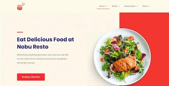 Bresto   Restaurant & Cafe Food Elementor Template Kit