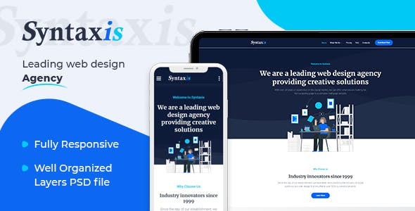 Syntaxis - Web Design Agency HTML Template