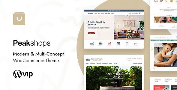 PeakShops - Modern & Multi-Concept WooCommerce Theme - WooCommerce eCommerce