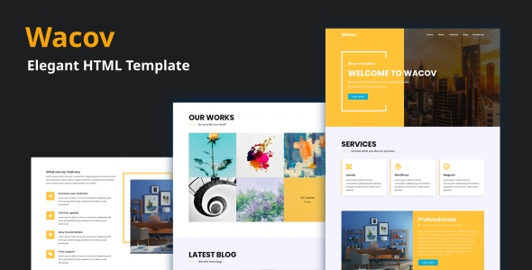 Wacov - Elegant HTML Template - Creative Site Templates