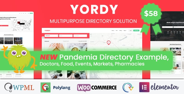 Yordy - Directory Listings WordPress Theme - Directory & Listings Corporate