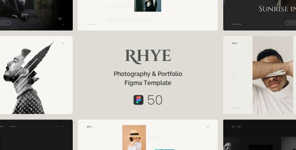 Rhye – Photography & Portfolio Figma Template