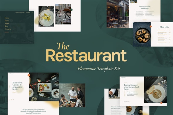 The Restaurant - Elementor Template Kit - Food & Drink Elementor