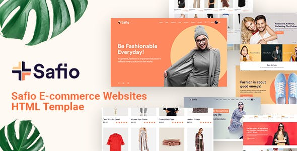 Safio - ECommerce & Online Businesses HTML5 Template