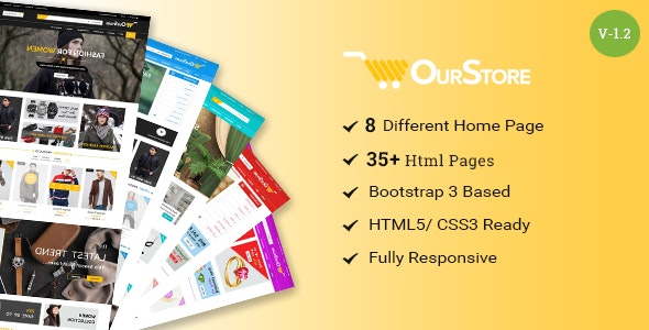 OurStore - Multipurpose eCommerce Bootstrap Template - Retail Site Templates