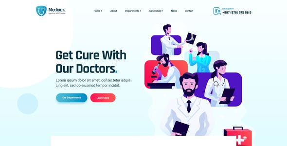 Medixer - Medical and Health PSD Template