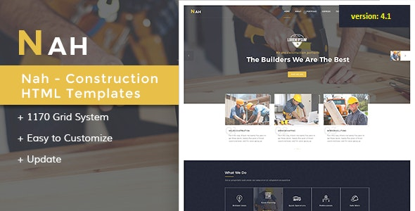 Nah Multipurpose Construction Drupal 8.8 - Drupal CMS Themes