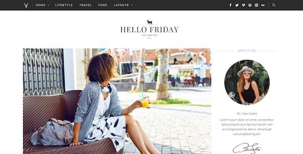 Hello Friday - Elegant Lifestyle Blog Theme