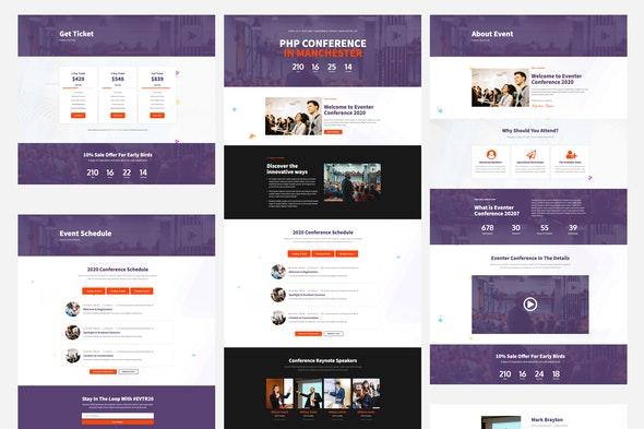Eventer - Meetup & Conference Elementor Template Kit - Events & Entertainment Elementor