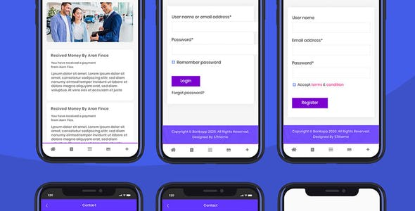 Bankapp - Wallet & Banking HTML Mobile Template With RTL