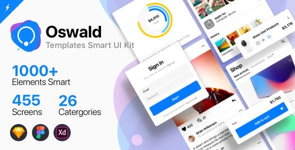 Oswald - Templates Smart UI Kit - Sketch UI Templates