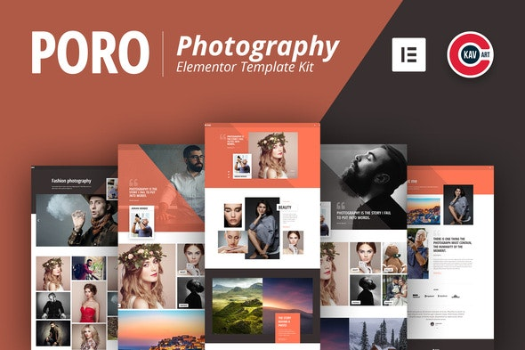 Poro - Photography Template Kit - Photography Elementor