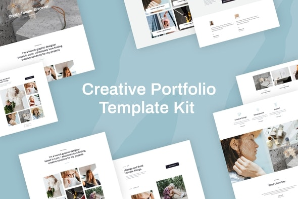 Quanzo - Creative Portfolio Template Kit - Creative & Design Elementor