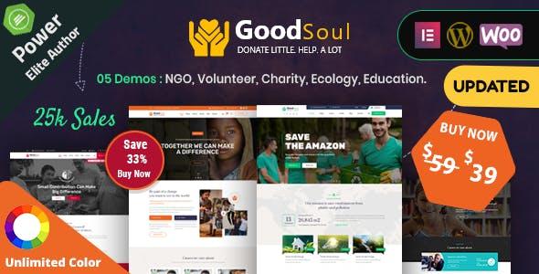 Download GoodSoul - Charity & Fundraising WordPress Theme