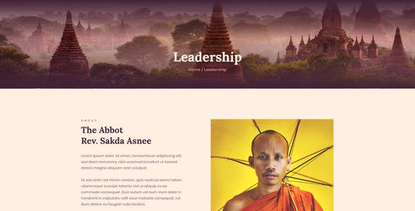 Vihara - Ashram & Oriental Buddhist Temple Elementor Template Kit