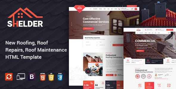 Shelder - Roofing Services HTML Template