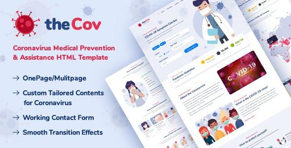 TheCov - Coronavirus Prevention & Assistance HTML Template