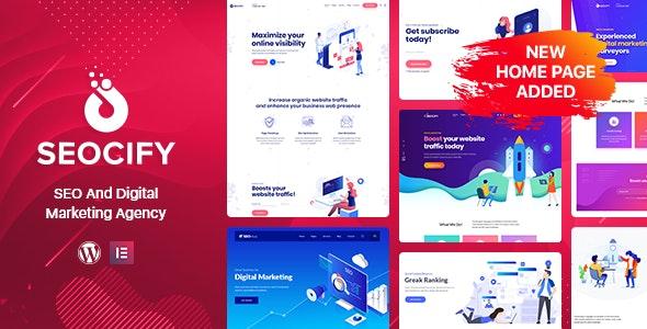 SEO Digital Marketing Agency WordPress Theme - Marketing Corporate