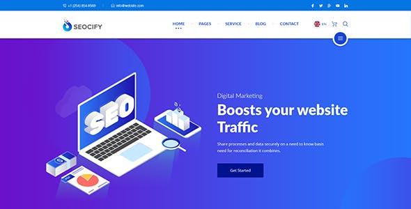 SEO Digital Marketing Agency WordPress Theme