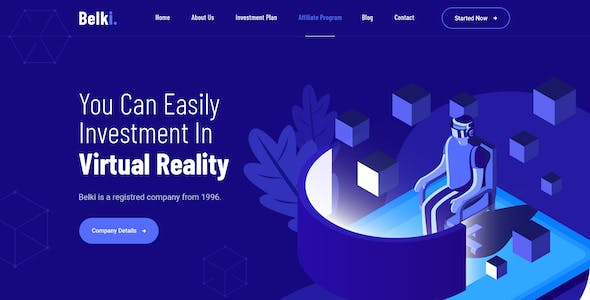 Belki - Virtual Reality Investment PSD Template