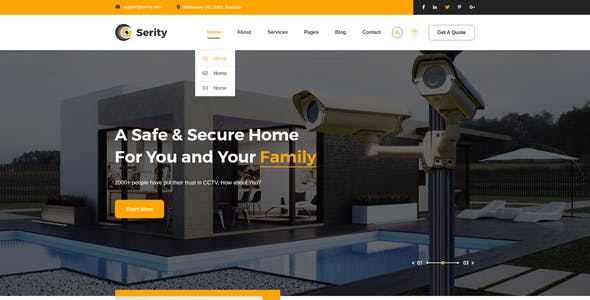 Serity - CCTV and Security Cameras HTML Template