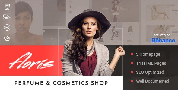 Floris — Perfume & Cosmetics Shop HTML Template - Shopping Retail
