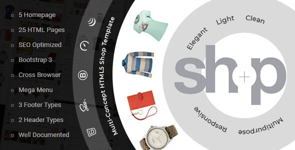 Shop — e-Commerce HTML Template - Shopping Retail
