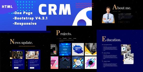 CRM-Personal Portfolio Template - Portfolio Creative