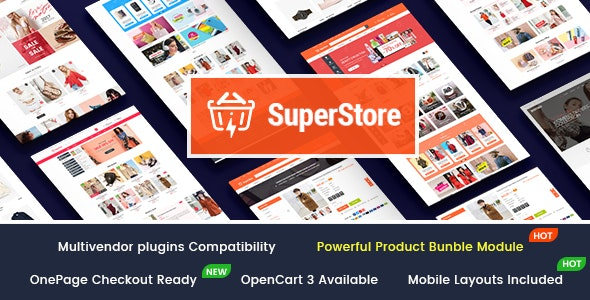 SuperStore - Responsive Multipurpose OpenCart 3 Theme with 3 Mobile Layouts Included - OpenCart eCommerce