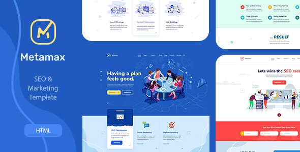 MetaMax - SEO and Marketing HTML Template - Marketing Corporate