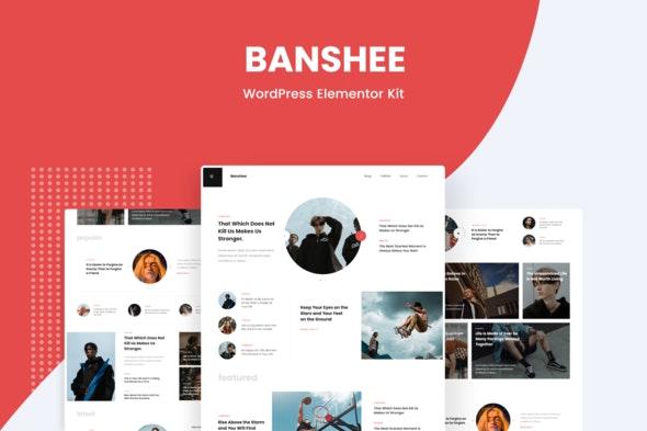 Banshee - News & Magazine WordPress Elementor Template Kit - News & Magazines Elementor