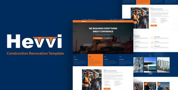 Hevvi - Construction Renovation HTML5 Template - Business Corporate