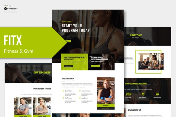 Fitx - Fitness & Gym Template Kit - Sport & Fitness Elementor