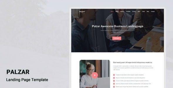 Palzar - Responsive Landing Page Template