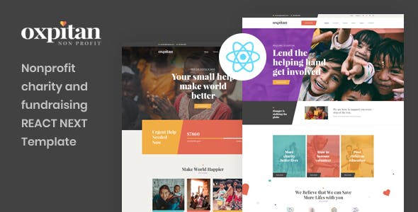 Download Oxpitan - React Next Nonprofit Charity and Fundraising Template
