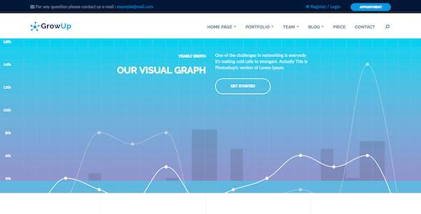 GrowUp Business & Financial WordPress Theme