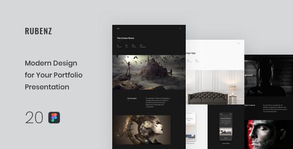 Rubenz – Creative Portfolio Figma Template - Portfolio Creative