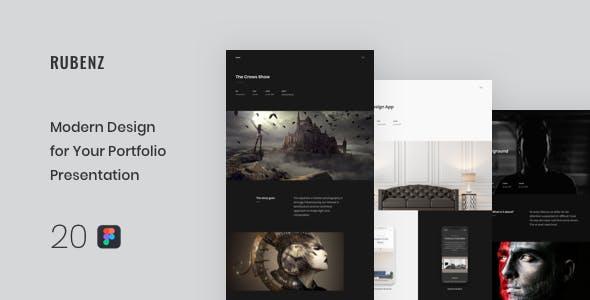 Rubenz – Creative Portfolio Figma Template