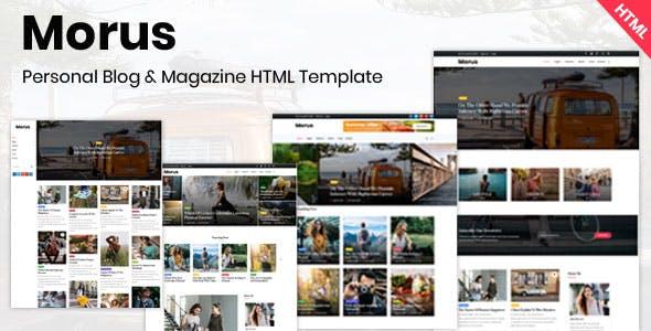 Download Morus - Personal Blog & Magazine HTML Template